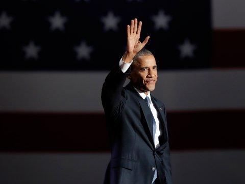 Obama says farewell to his presidency