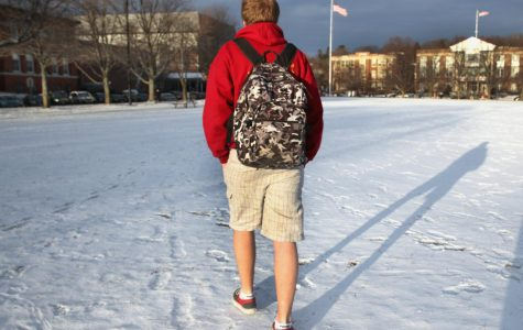 Students continue to wear summer clothes through winter season