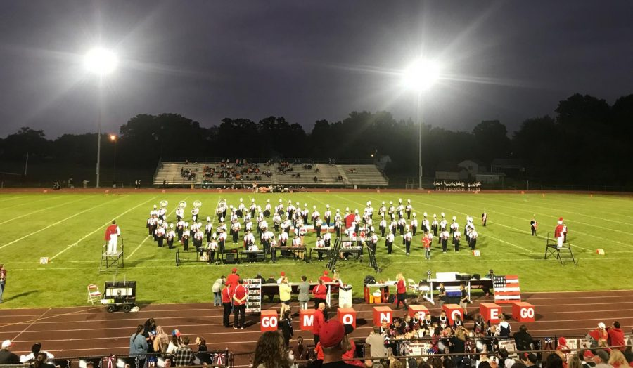 The+MHS+band+performed+at+halftime+during+the+Varsity+football+game+against+Fenton+High+School.+The+band+was+invited+to+perform+at+the+Detroit+Thanksgiving+Parade.+