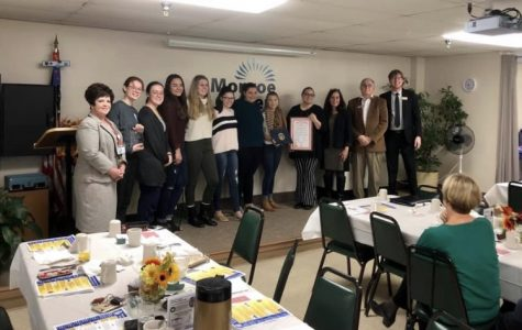 MHS Interact Club recieves award for Homeless Awareness Week activities
