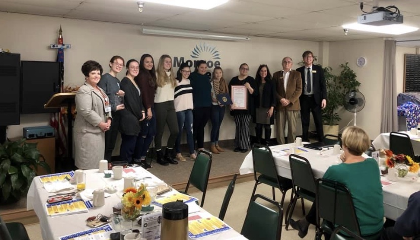 MHS Interact Club receives award for Homeless Awareness Week activities